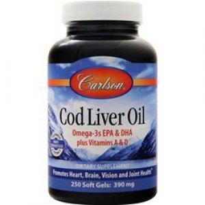 Lebertran (Cod Liver Oil), 250 Kapseln