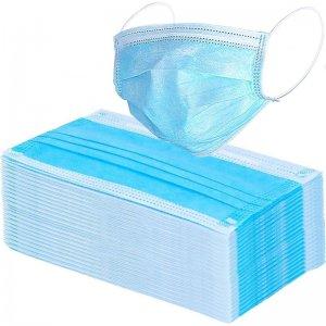 Schutzmasken Hygienemasken, Box mit 50 Stück, hellblau